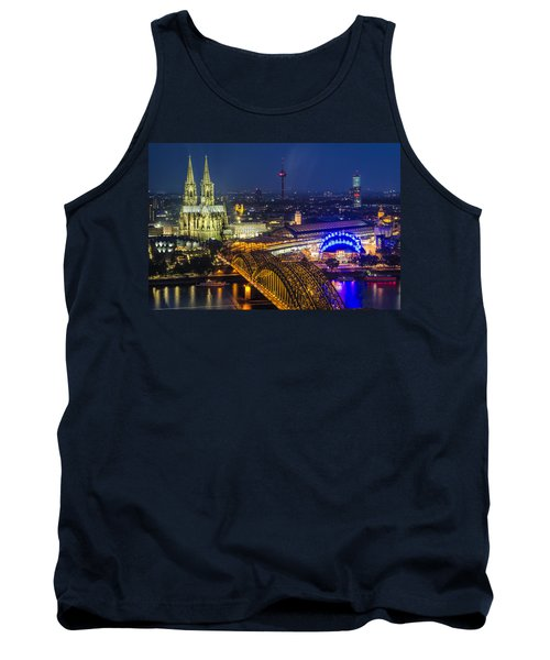 Night Falls Upon Cologne 2 Tank Top