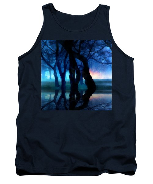 Night Fog In A City Park Tank Top by Francesa Miller