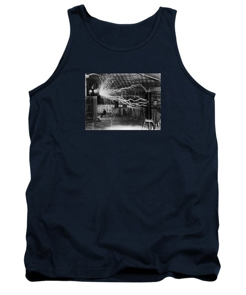 Nikola Tesla - Bolts Of Electricity Tank Top