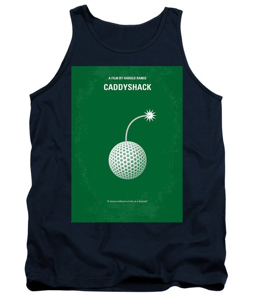 No013 My Caddy Shack Minimal Movie Poster Tank Top