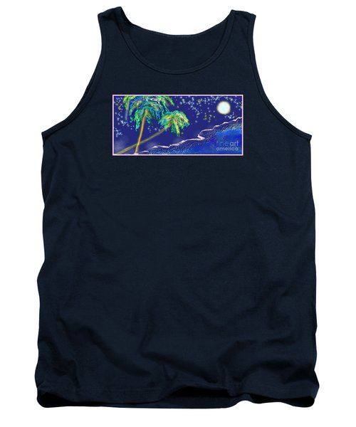 Tank Top featuring the painting Noche Tropical by The Art of Alice Terrill