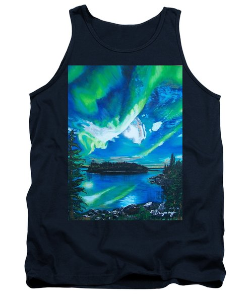 Tank Top featuring the painting Northern Lights  by Sharon Duguay