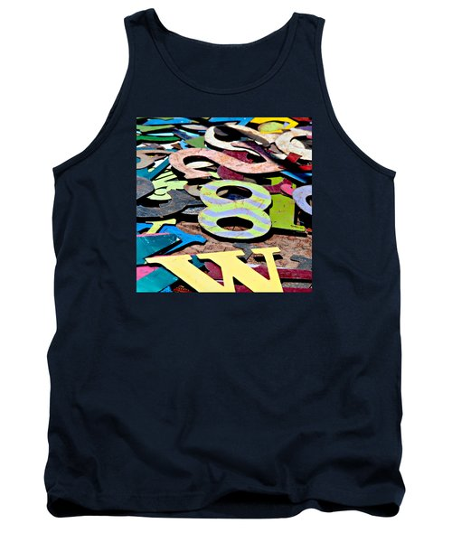 Number 8 Tank Top by Art Block Collections