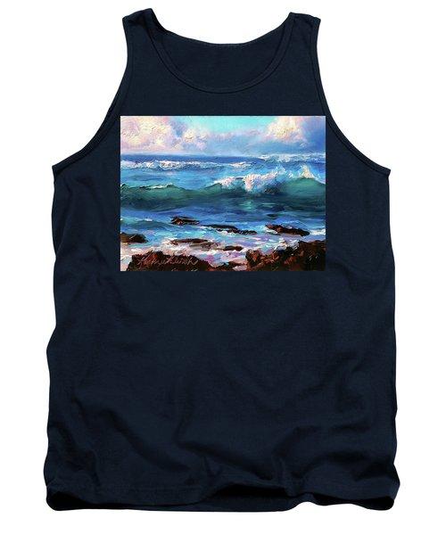 Coastal Ocean Sunset At Turtle Bay, Oahu Hawaii Beach Seascape Tank Top