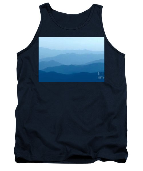 Tank Top featuring the digital art Ocean Waves by Anthony Fishburne