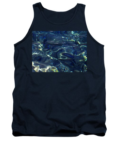 Tank Top featuring the photograph Ocean Water Reflections.santorini Island Greece by Colette V Hera  Guggenheim