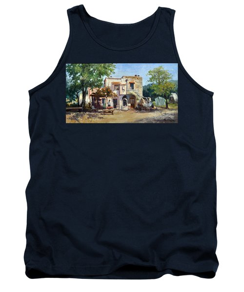 Tank Top featuring the painting Old Farm by Rosario Piazza