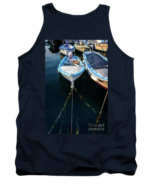 Old Fishing Boats Of The Adriatic Tank Top