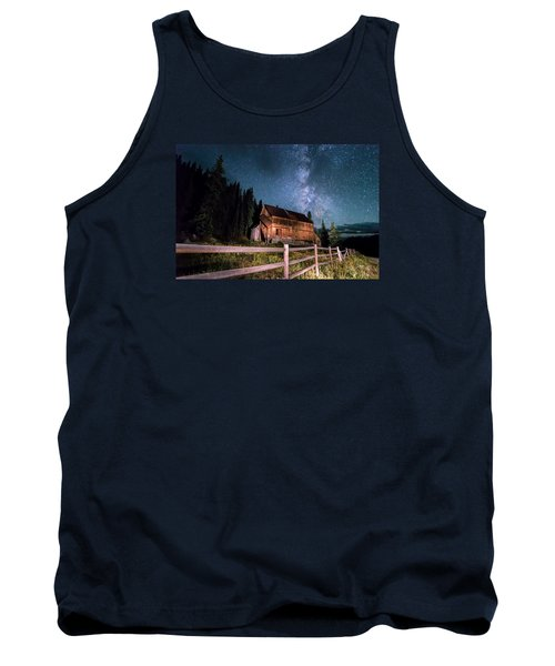 Old Mining Camp Under Milky Way Tank Top by Michael J Bauer