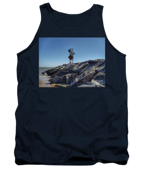 Old Ocmd Inlet Jetty Beacon And Foghorn 4 Tank Top