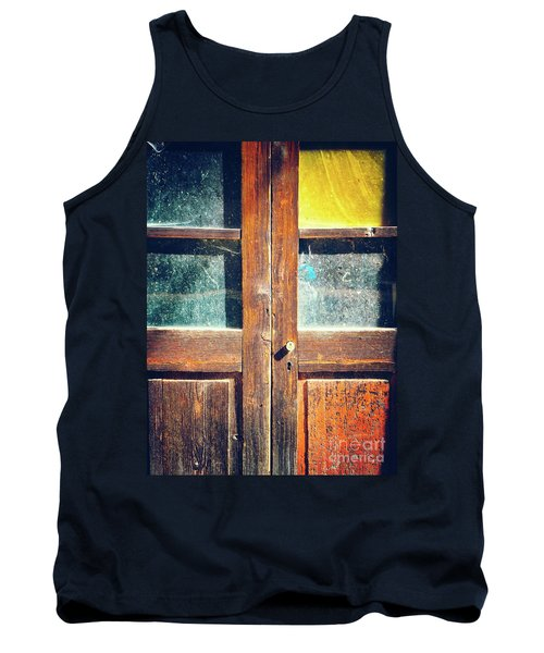 Tank Top featuring the photograph Old Rotten Door by Silvia Ganora