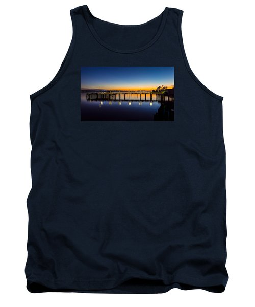 Old Town Pier Blue Hour Sunrise Tank Top