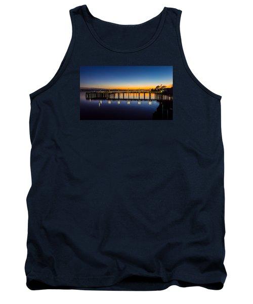 Old Town Pier Blue Hour Sunrise Tank Top