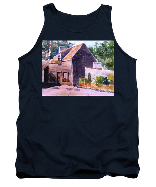 Old Wooden School House Tank Top by Larry Hamilton
