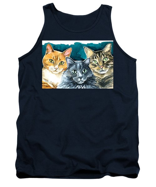 Oliver, Willow And Walter - Cat Painting Tank Top