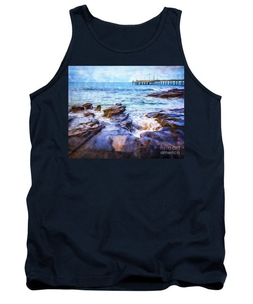 Tank Top featuring the photograph On The Rocks by Perry Webster