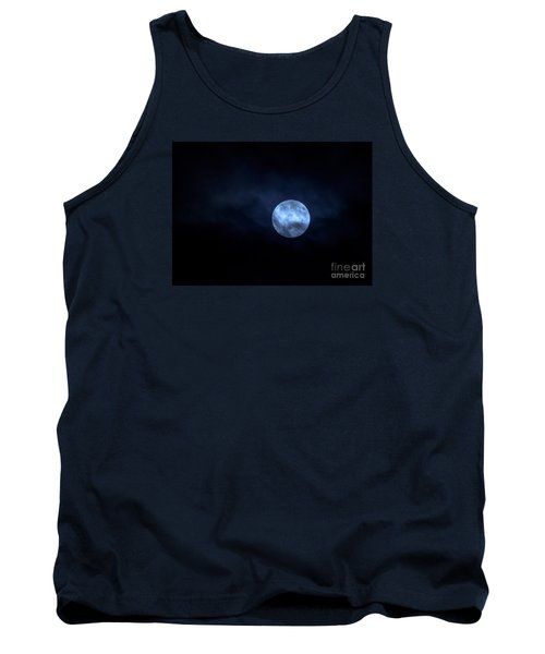 Tank Top featuring the photograph Once In A Blue Moon by Sandy Molinaro