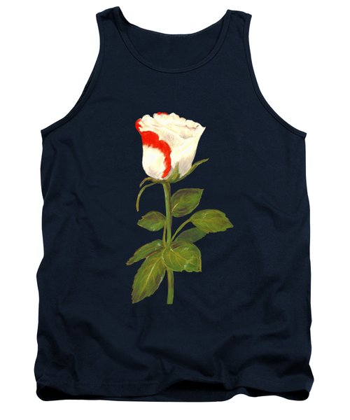Tank Top featuring the pastel One Rose by Anastasiya Malakhova