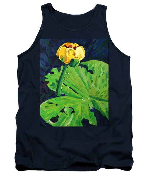 One Yellow Lily Tank Top