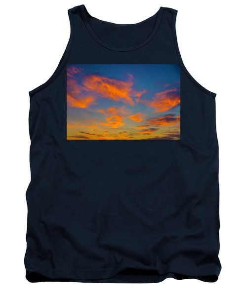 Orange Twllight Clouds Tank Top