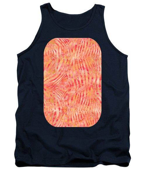Orange Zebra Print Tank Top