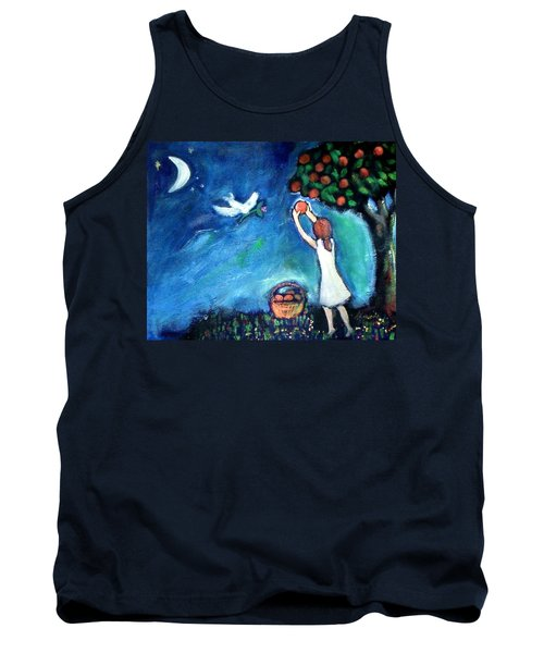 Tank Top featuring the painting Oranges Song by Winsome Gunning
