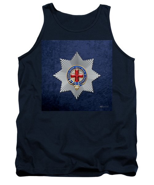 Order Of The Garter Star On Blue  Tank Top