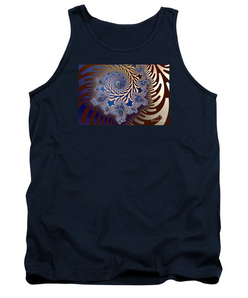 Tank Top featuring the digital art Ornamental by Karin Kuhlmann