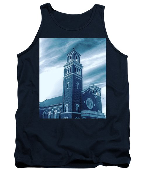 Our Lady Of Sorrows Under Wispy Skies Tank Top