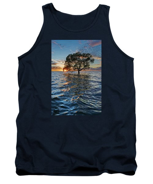 Out At Sea Tank Top by Robert Charity