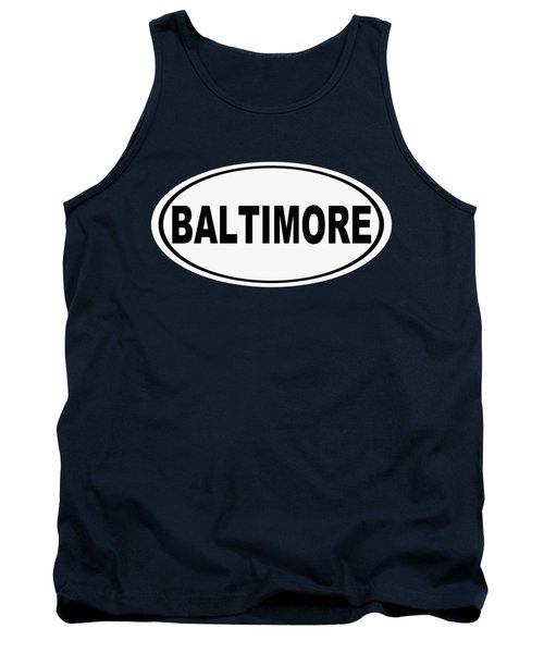 Oval Baltimore Maryland Home Pride Tank Top