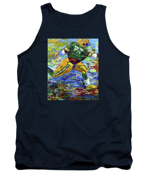 Paeddie Lacy Running For Td  Tank Top by Walter Fahmy