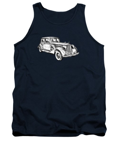 Packard Luxury Antique Car Illustration Tank Top by Keith Webber Jr