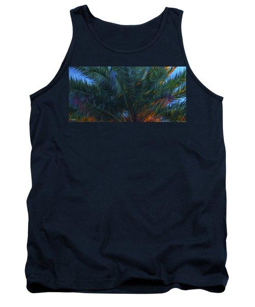 Palm Tree In The Sun Tank Top