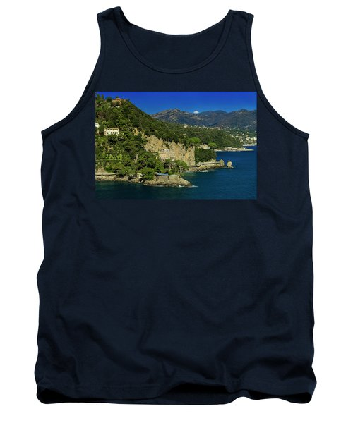 Paraggi Bay Castle And Liguria Mountains Portofino Park  Tank Top