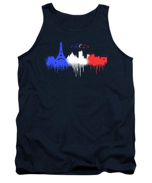 Paris Skyline  Tank Top by Solomon Barroa