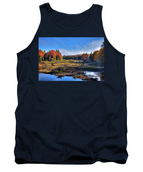 Tank Top featuring the photograph Patches Of Fog At The Green Bridge by David Patterson