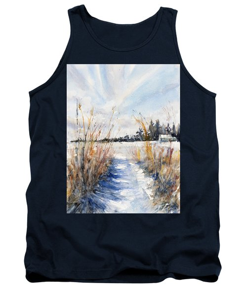 Path Shadows In The Way Back Tank Top by Judith Levins