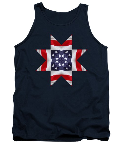 Patriotic Star 2 - Transparent Background Tank Top