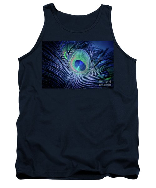 Tank Top featuring the photograph Peacock Feather Blush by Sharon Mau