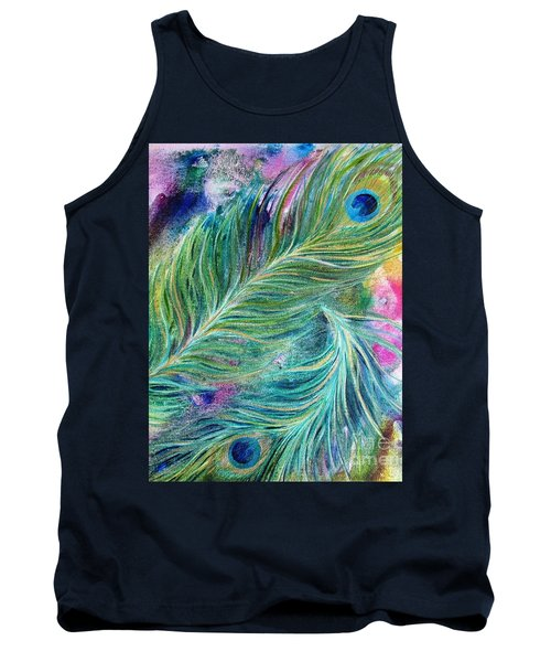 Peacock Feathers Bright Tank Top