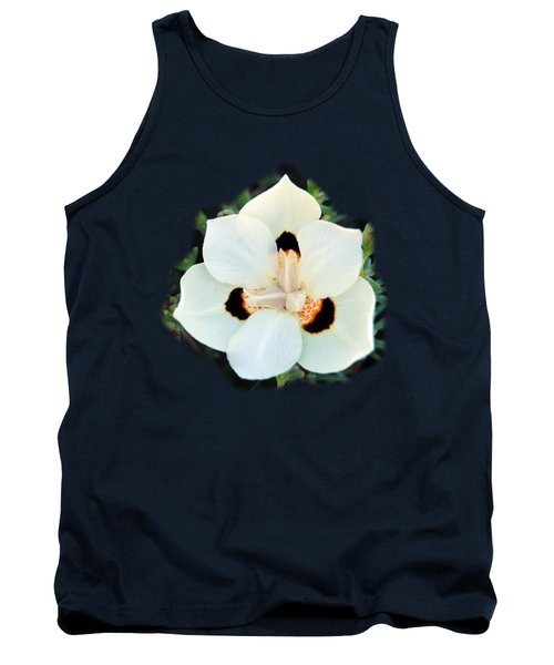 Peacock Flower T-shirt Tank Top by Isam Awad