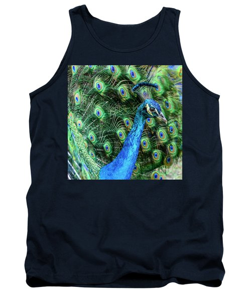 Tank Top featuring the photograph Peacock by Steven Sparks