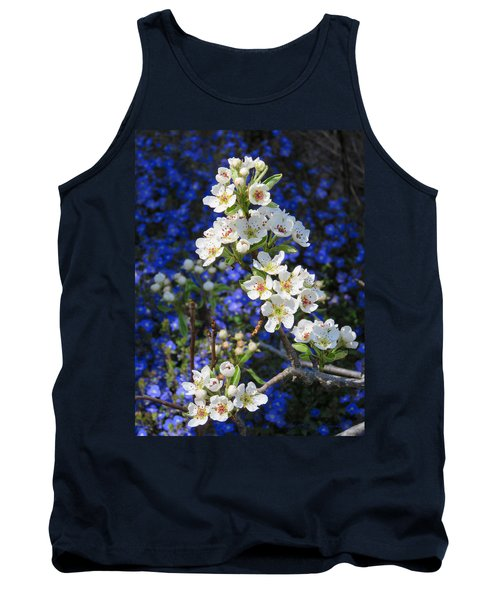 Pear Blossoms And Georgia Blue 2 Tank Top