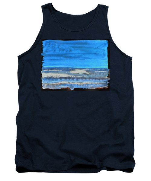 Tank Top featuring the painting Peau De Mer by Marc Philippe Joly