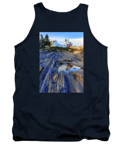 Pemaquid Point Light Reflections Tank Top