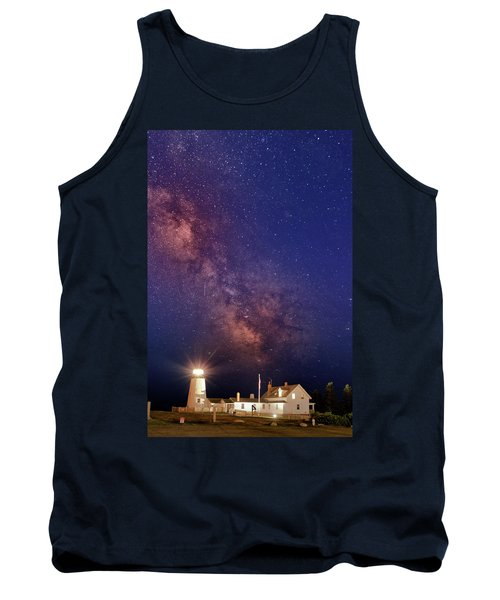 Pemaquid Point Lighthouse And The Milky Way Tank Top