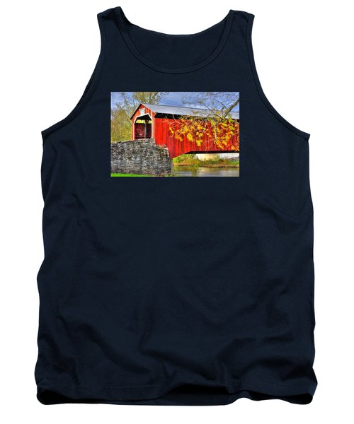 Pennsylvania Country Roads - Dellville Covered Bridge Over Sherman Creek No. 13 - Perry County Tank Top