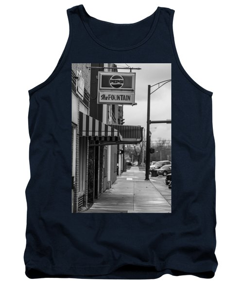 Pepsi The Fountain Sign Tank Top