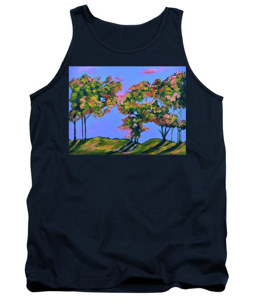 Periwinkle Twilight Tank Top by Donna Blackhall